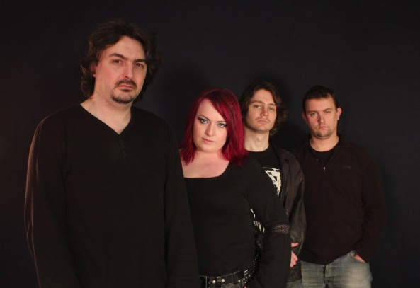 Dawn of Elysium early 2013: (from left) Alec Marlow, Emma Hedley, Charles Shelley, Phil Holroyd
